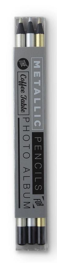 Ołówki metaliczne do zdjęć (3szt.)