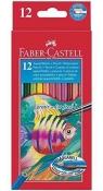 Kredki Rybka z pędzelkiem 12 kolorów FABER CASTELL (114413)
