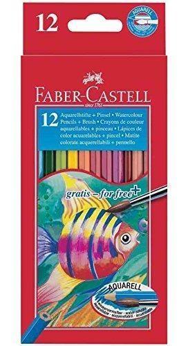 Kredki Rybka z pędzelkiem 12 kolorów Faber-Castell (114413)