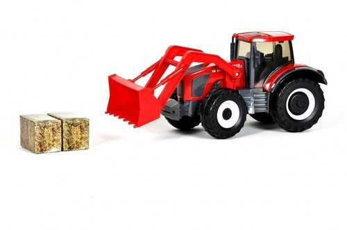 Traktor Gigant Spychacz 1:16 czerwony