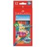 Kredki akwarelowe Faber-Castell z pędzelkiem, 12 kolorów  (114413)