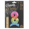 Balon gumowy Godan Beauty&Charm cyfra stojąca tęczowa kolorowa 75 cm (BC-AST8)