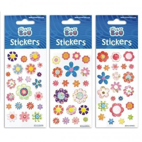 Naklejki Sticker BOO silver kwiatki MIX