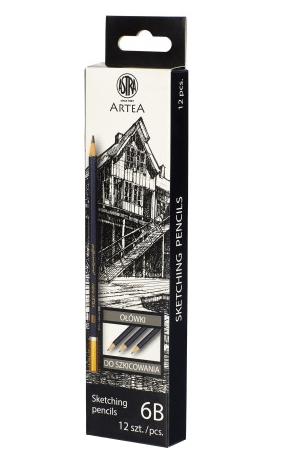 Ołówek do szkicowania 6B Astra Artea (206118007)