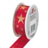 Wstążka 2mx25mm Gwiazdy czerwona