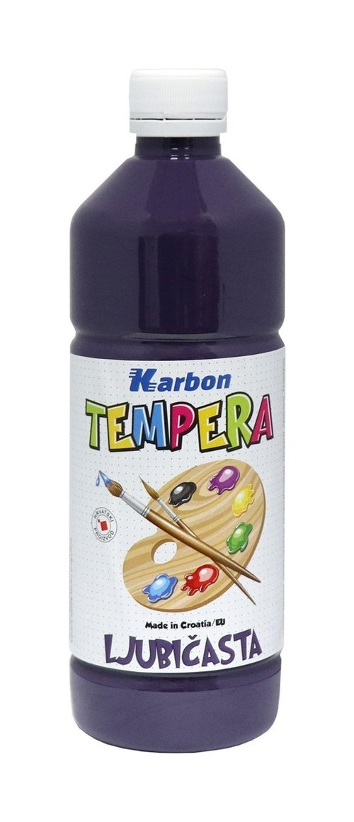 Farba tempera w butelce Karbon fioletowa 550ml
