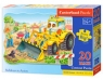 Puzzle Maxi Konturowe 20: Bulldozer in Action (02139)