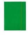 Teczka A4 kartonowa z gumką zielona 300g D.RECT