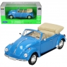 WELLY Volkswagen Beetle Cabrio, niebies. (WE22091)