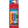 Kredki Grip 2001 z kolorową gumką 10 kolorów