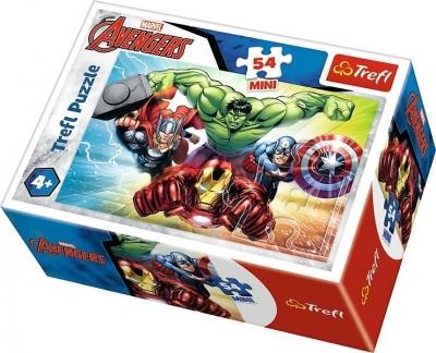 Puzzle mini 54: Bohaterowie The Avengers 1 TREFL