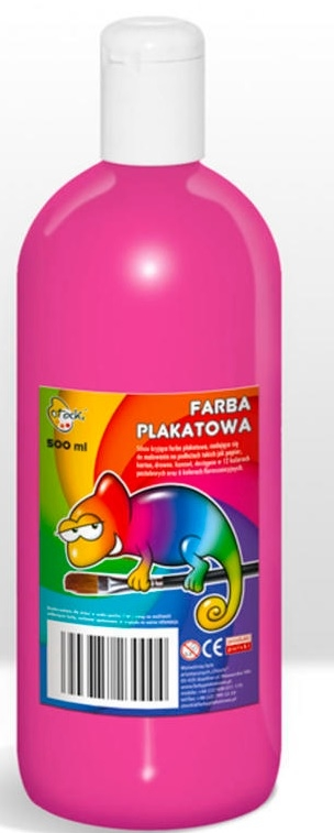 Farba plakatowa różowa, 500 ml