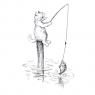 Karnet B6 z kopertą A Fishing Story