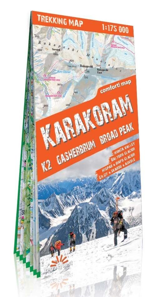 Karakorum mapa trekkingowa