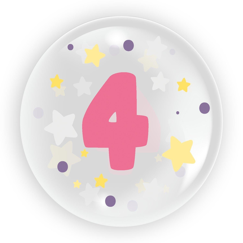 "Balon 45 cm - ""Cyfra 4"" różowy (TB 3614)"