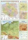 Mapa Polski A2 Dwustronna laminowana (10szt)