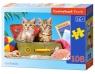 Puzzle Cat Tourists 108 elementów (010141)