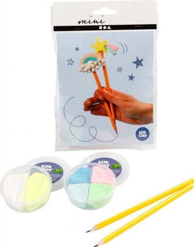 Zestaw mini mas plastycznych - Ołówki