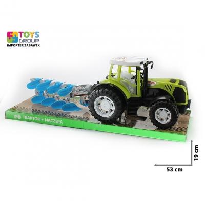 Traktor Toys Group z maszyną rolniczą język polski (TG383568)