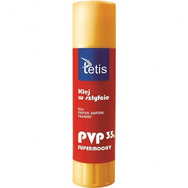 Klej w sztyfcie Tetis PVP 35g, 12 szt. (BG100-D)