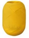 Wstążka kłębuszek 20m/10mm - matowa żółta