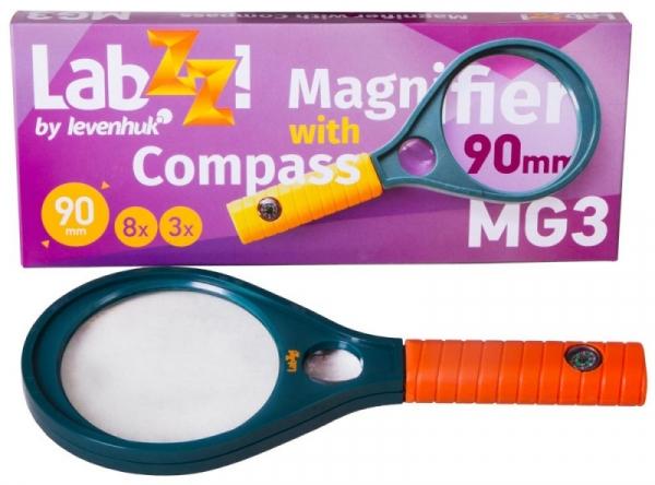 Lupa z kompasem LabZZ MG3 (70812)