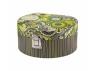 Pudełko tekturowe, szkatułka na biżuterię z lusterkiem Dżungla