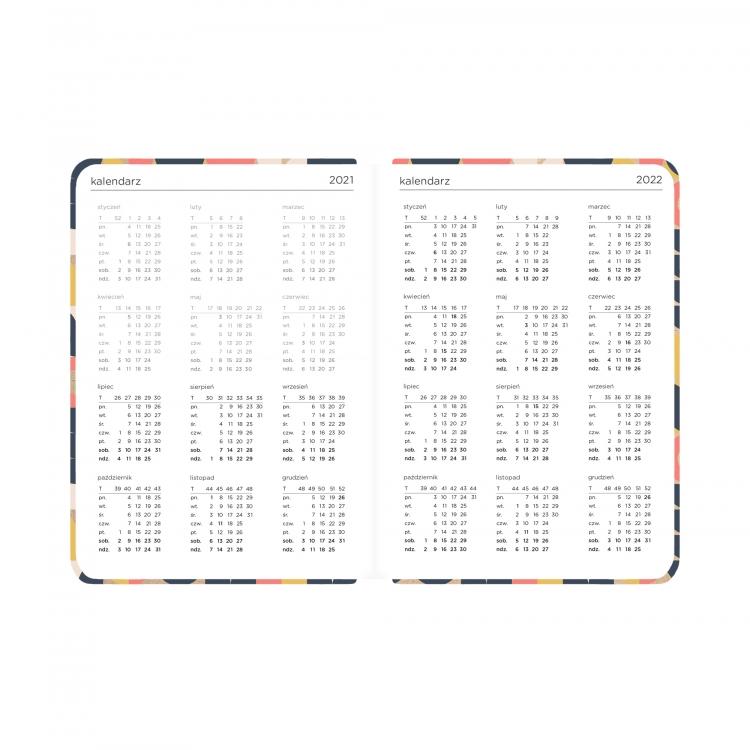 Kalendarz 18 mc. 21/22 - Kraft kwiaty (78404)