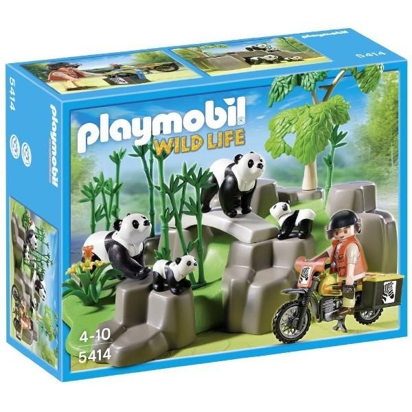 PLAYMOBIL Rodzina pand w lesiebambusowym