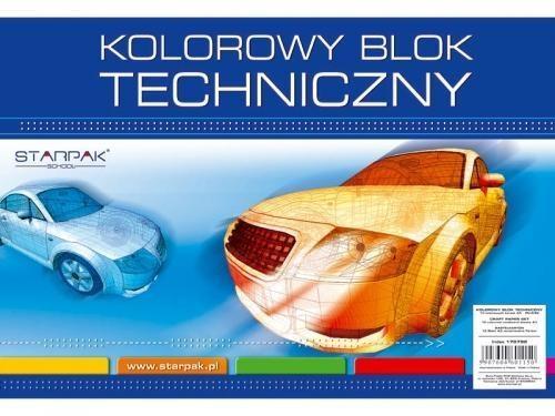 Blok techniczny A4/10K kolorowy 20szt