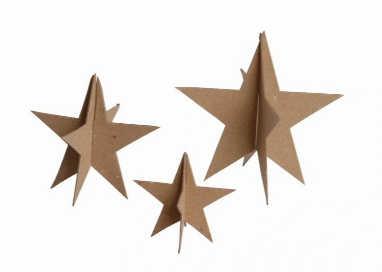 Kształty kartonowe 3D Gwiazdki (450747)