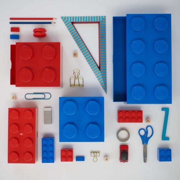 Lego, szufladka na biurko klocek Brick 8 - Niebieska (40211731)