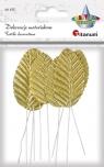 Dekoracje materiałowe złote liście (396464)