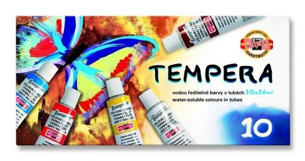 Farby Tempera 10 kolorów 16ml