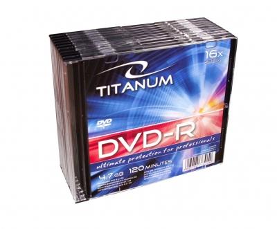 Płyta DVD-R Titanum 4,7 GB x16 - Slim 10 sztuk (1284)