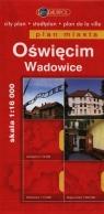 Oświęcim Wadowice Plan miasta 1:16 000