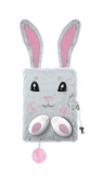 Pamiętnik z kłódką 3D włochacz A5, 96 kartek Bunny