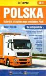 Mapa samochodowa 1:700 000 Polska 2018 dla profes. praca zbiorowa