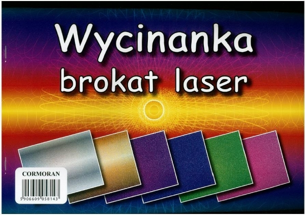 Wycinanka A4 brokat laser