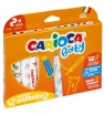 Pisaki Carioca Super Baby, 12 kolorów (207927)