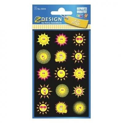 Naklejki foliowe NEONowe - słoneczka