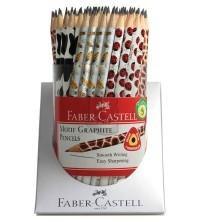 Ołówek Faber-Castell trójkątny, mix wzorów