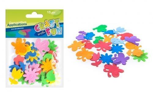 Ozdoba dekoracyjna piankowa kwiaty/motyle 25szt