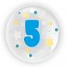 """Balon 45 cm - """"Cyfra 5"""" niebieski (TB 3605)"""