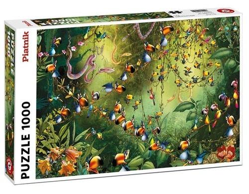 Puzzle 1000 Ruyer Tukany w dżungli