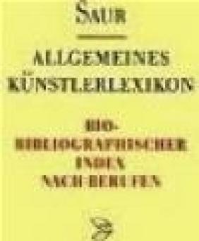 Allgemeines Kunst. Bio-Biblio v 4 Index A-Z