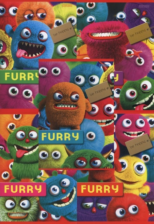 Zeszyt A5 gładki 16 kartek Furry