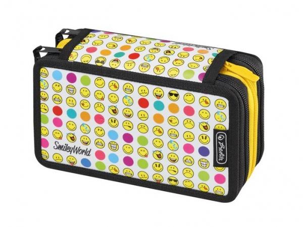 Piórnik potrójny z wyposażeniem 31 elementów Rainbow Faces (50015412)