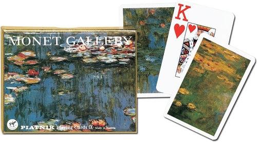 Karty Monet Lilie 2 talie duże indeksy