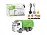 Śmieciarka z akcesoriami zielono-biała
